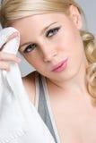 Blondes Eignung-Mädchen Lizenzfreies Stockfoto