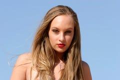 Blondes Frau headshot Lizenzfreie Stockbilder