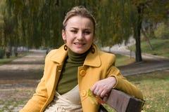 Blondes Frauenbaumuster Stockbilder