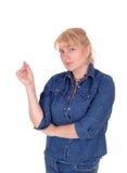 Blondes Frauendenken Lizenzfreies Stockbild