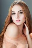 Blondes Frauengesicht Lizenzfreies Stockfoto