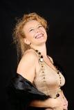 Blondes Frauenlachen Lizenzfreie Stockfotografie
