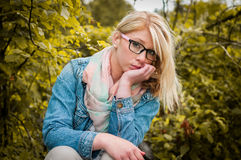 Blondes Frauenportrait Lizenzfreie Stockbilder