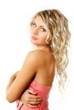 Blondes Frauenportrait der Nahaufnahme Lizenzfreie Stockfotografie