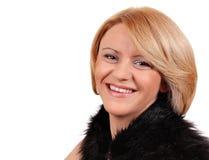 Blondes Frauenportrait der Schönheit Lizenzfreies Stockbild