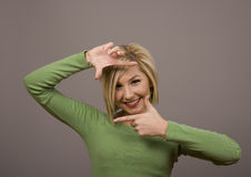 Blondes gestaltengesicht Lizenzfreie Stockfotos