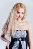 Blondes hübsches Lächeln Stockbilder