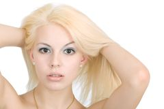 Blondes Haar Stockfoto