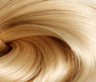Blondes Haar Beschaffenheit des blonden Haares Lizenzfreies Stockbild
