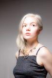 Blondes Haar-blaue Augen-amerikanische Frau Lizenzfreies Stockbild