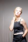 Blondes Haar-blaue Augen-amerikanische Frau Lizenzfreie Stockbilder