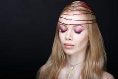Blondes Haar der Frau Stockbilder