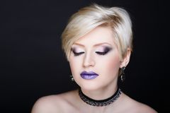 Blondes Haar der Frau Lizenzfreies Stockfoto