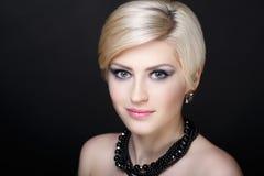 Blondes Haar der Frau Stockfotos