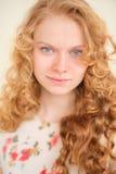 Blondes Haar des Porträts Stockbild