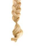 Blondes Haar geflochten im Zopf Lizenzfreie Stockbilder