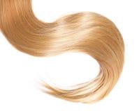 Blondes Haar lokalisiert auf weißem Hintergrund Stockfotos
