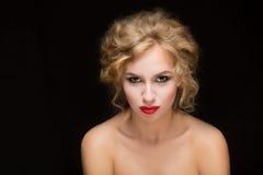 Blondes Haar Schönes reizvolles blondes Mädchen Lizenzfreie Stockbilder