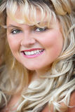 Blondes headshot Stockbilder