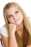 Blondes jugendlich Mädchen Stockfotografie