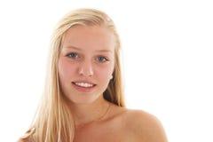 Blondes jugendlich Mädchen Lizenzfreies Stockbild