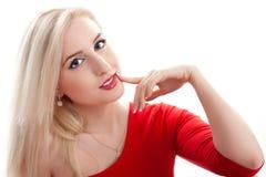 Blondes junge Frau portarit Stockbilder