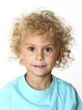 Blondes Jungenportrait Lizenzfreies Stockbild