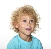 Blondes Jungenportrait Lizenzfreies Stockfoto