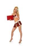 Blondes katholisches Schulmädchen Lizenzfreie Stockbilder