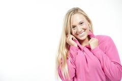 Blondes kaukasisches Mädchen Lizenzfreie Stockbilder