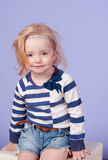 Blondes kleines Mädchen Lizenzfreies Stockfoto