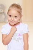 Blondes kleines Mädchen Stockfotos