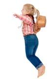 Blondes kleines Mädchen gekleidet Lizenzfreies Stockfoto