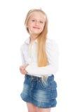Blondes kleines Mädchen lokalisiert Stockbild