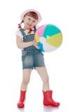 Blondes kleines Mädchen mit einem kurzen Lizenzfreie Stockfotografie