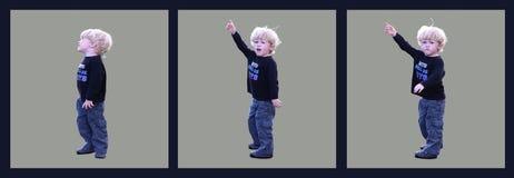 Blondes Kleinkind, das Reihe zeigt Stockbild