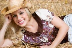 Blondes Land-Mädchen Stockbilder