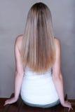 Blondes langes Haar Lizenzfreie Stockbilder