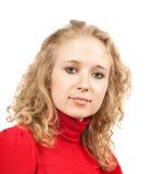 Blondes lockiges Mädchen Stockfotografie