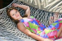 Blondes Mädchen Stockfoto