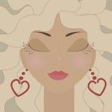 Blondes Mädchen Stock Abbildung