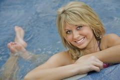 Blondes Mädchen Stockfotografie
