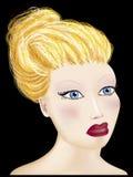 Blondes Mädchen. Stockbild