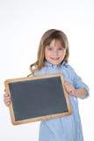 Blondes Mädchen auf weißem Hintergrund Lizenzfreies Stockfoto