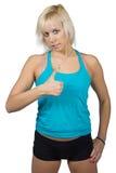 Blondes Mädchen - Daumen oben Lizenzfreie Stockfotografie