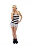 Blondes Mädchen in den Pyjamas Lizenzfreie Stockfotografie