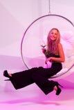 Blondes Mädchen in der Partei Lizenzfreie Stockfotografie