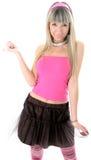 Blondes Mädchen der Schönheit mit Süßigkeit Lizenzfreie Stockbilder
