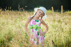 Blondes Mädchen im Hut Lizenzfreies Stockfoto