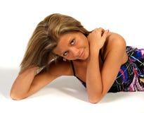 Blondes Mädchen im Studio Lizenzfreie Stockbilder